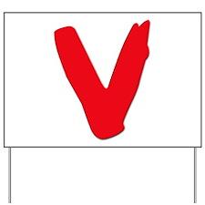 V Visitors Aliens TV Series Yard Sign