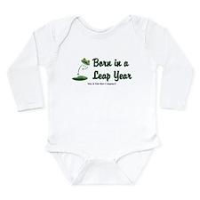 Born in a Leap Year Long Sleeve Infant Bodysuit