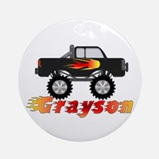 Grayson Monster Truck Ornament (Round)