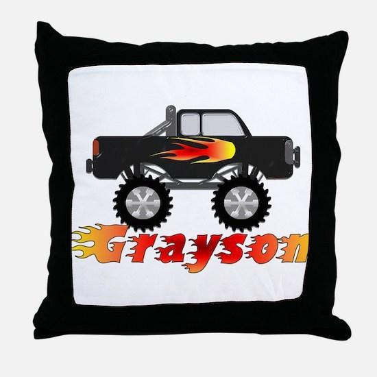 Grayson Monster Truck Throw Pillow