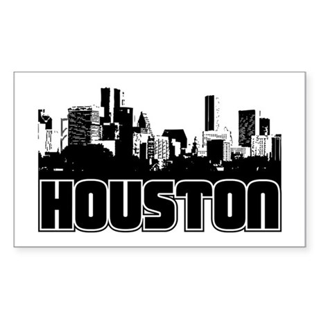 Houston Skyline Sticker (Rectangle)