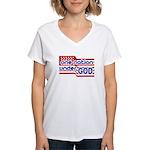 One Nation Under God Women's V-Neck T-Shirt
