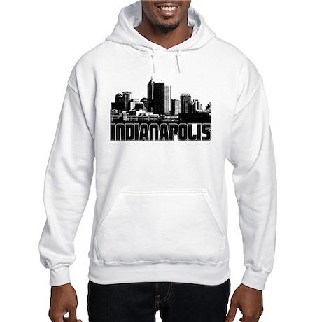 Indianapolis Skyline Hooded Sweatshirt