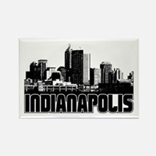 Indianapolis Skyline Rectangle Magnet