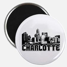 Charlotte Skyline Magnet
