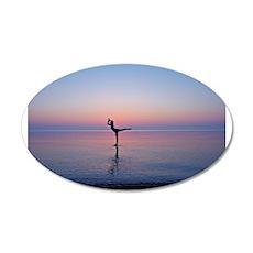Dancing on Water 22x14 Oval Wall Peel
