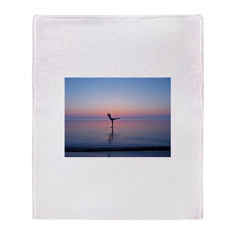Dancing on Water Throw Blanket