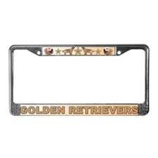 Golden Retriever Smiling License  Frame