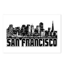 San Fransico Skyline Postcards (Package of 8)
