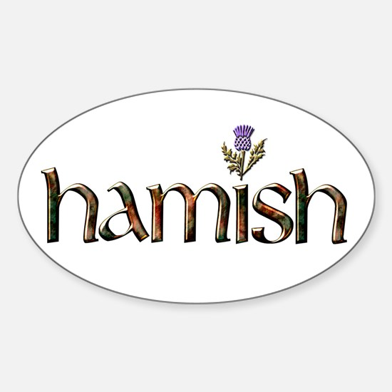 Hamish Sticker (Oval)