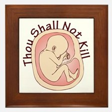 Thou Shall Not Kill Framed Tile
