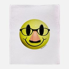 Groucho Smiley Throw Blanket