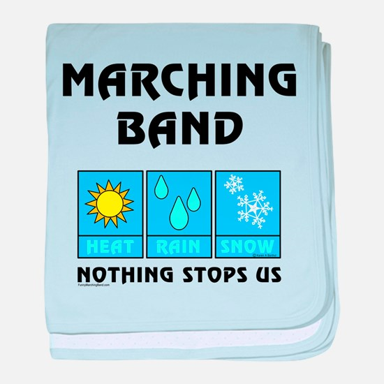 Marching Band Weather baby blanket