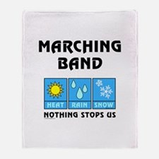Marching Band Weather Throw Blanket