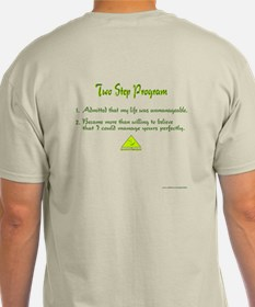 2 Step Program Natural T-Shirt