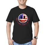 July 4th Smiley Men's Fitted T-Shirt (dark)