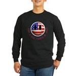 July 4th Smiley Long Sleeve Dark T-Shirt
