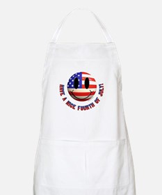 July 4th Smiley Apron