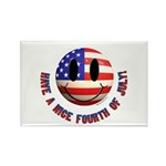 July 4th Smiley Rectangle Magnet (100 pack)