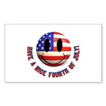 July 4th Smiley Sticker (Rectangle 10 pk)