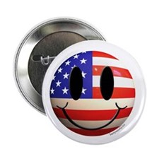 """July 4th Smiley 2 2.25"""" Button (10 pack)"""