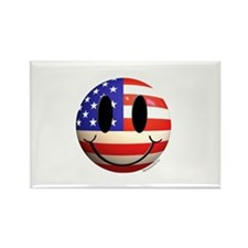 July 4th Smiley 2 Rectangle Magnet (100 pack)