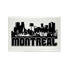 Montreal Skyline Rectangle Magnet