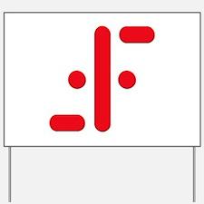 V Symbol Visitors TV Red Yard Sign