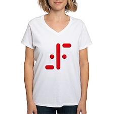 V Symbol Visitors TV Red Shirt
