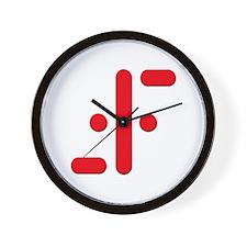 V Symbol Visitors TV Red Wall Clock