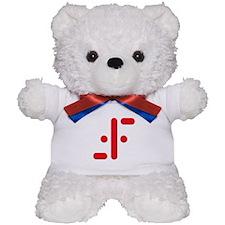 V Symbol Visitors TV Red Teddy Bear