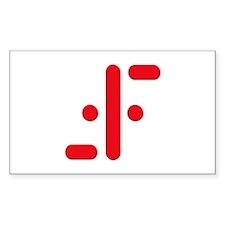 V Symbol Visitors TV Red Decal