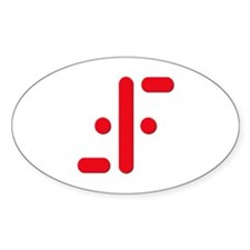 V Symbol Visitors TV Red Decal