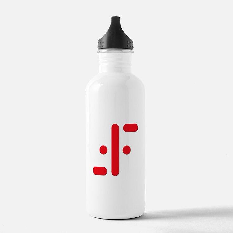 V Symbol Visitors TV Red Water Bottle
