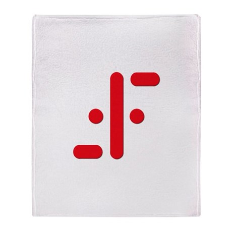 V Symbol Visitors TV Red Throw Blanket