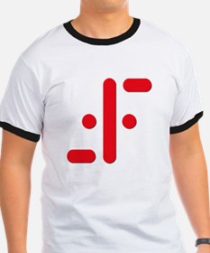 V Symbol Visitors TV Red T