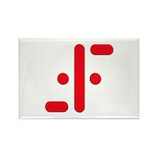 V Symbol Visitors TV Red Rectangle Magnet