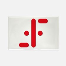 V Symbol Visitors TV Red Rectangle Magnet