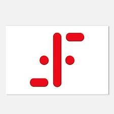 V Symbol Visitors TV Red Postcards (Package of 8)