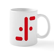 V Symbol Visitors TV Red Mug