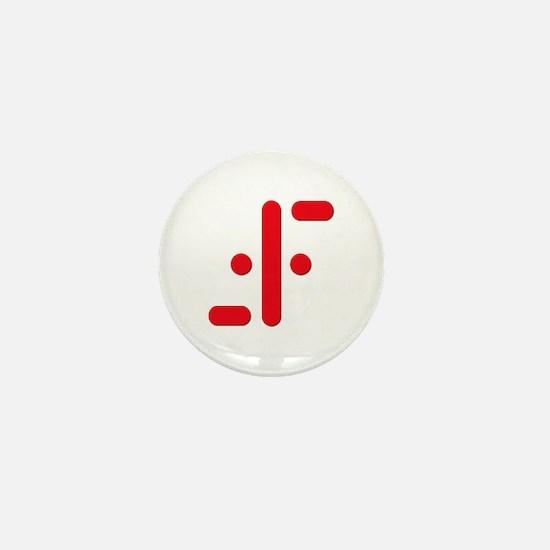 V Symbol Visitors TV Red Mini Button