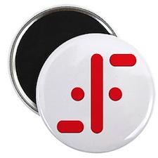 V Symbol Visitors TV Red Magnet