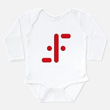 V Symbol Visitors TV Red Long Sleeve Infant Bodysu