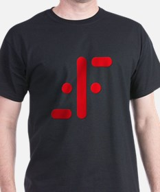 V Symbol Visitors TV Red T-Shirt