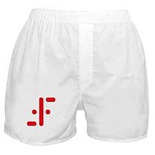 V Symbol Visitors TV Red Boxer Shorts