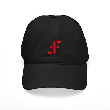 V Symbol Visitors TV Red Black Cap