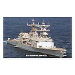 USS BRISCOE Sticker (Rectangle)