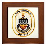 USS BRISCOE Framed Tile