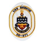 USS BRISCOE Ornament (Oval)