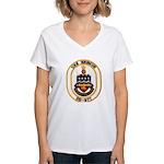 USS BRISCOE Women's V-Neck T-Shirt